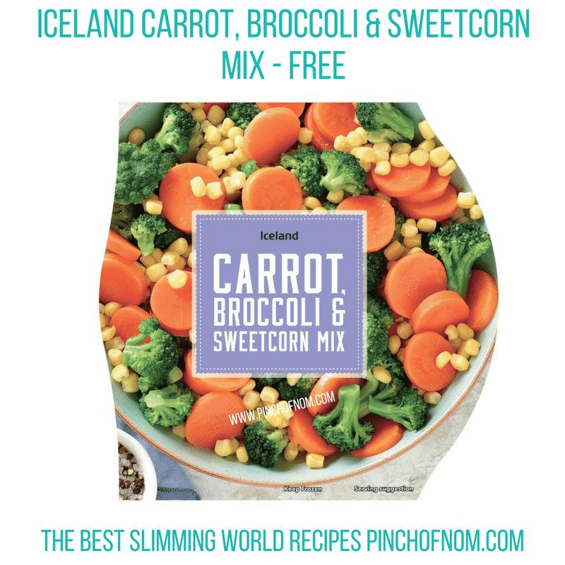 Iceland veg mix - Pinch of Nom Slimming World Shopping Essentials
