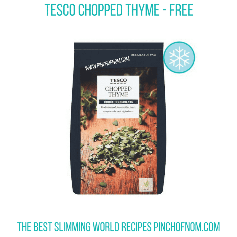 Tesco Chopped Thyme - Pinch of Nom Slimming World Shopping Essentials