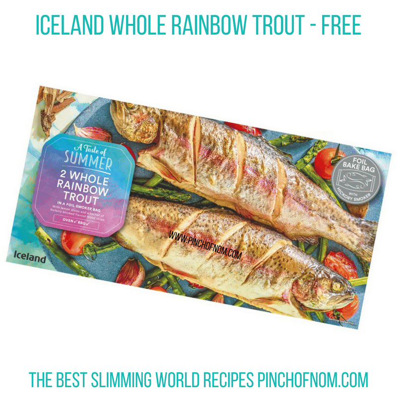 Iceland whole trout - Pinch of Nom Slimming World Shopping Essentials