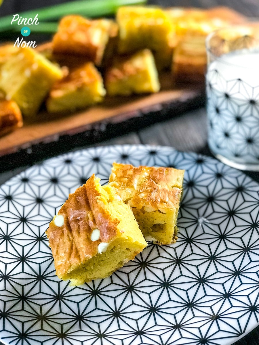Low Syn White Chocolate Blondies | Slimming World 3