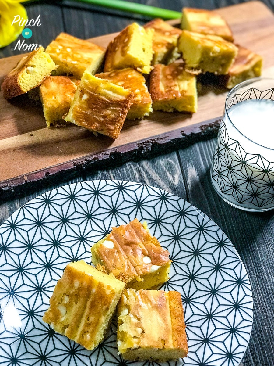 Low Syn White Chocolate Blondies | Slimming World 2