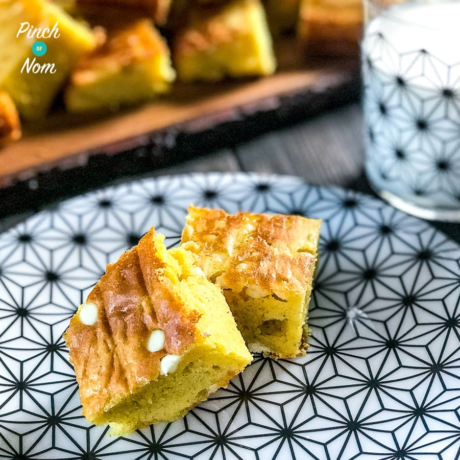 Low Syn White Chocolate Blondies | Slimming World