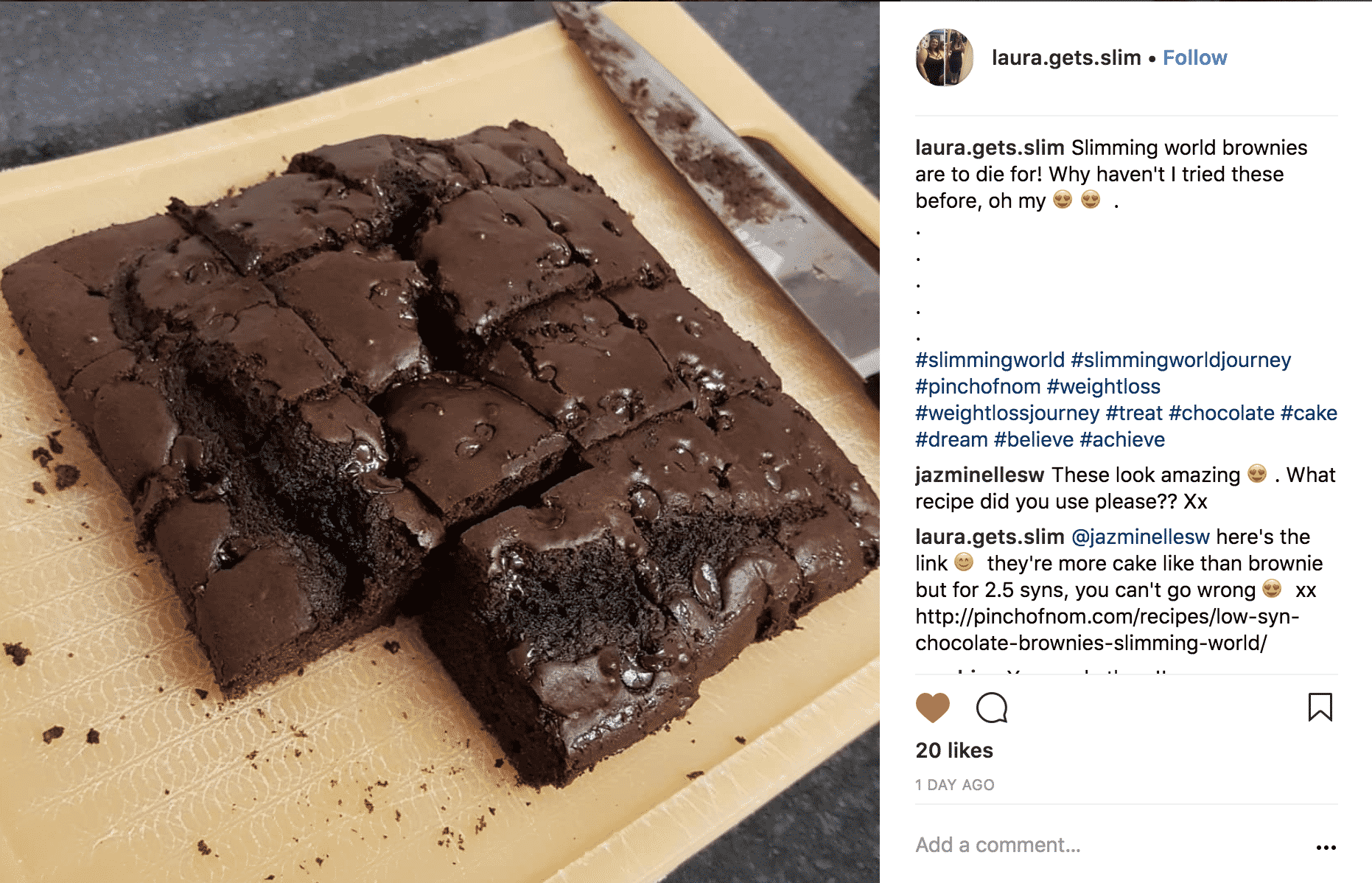 brownies - laura.gets.slim