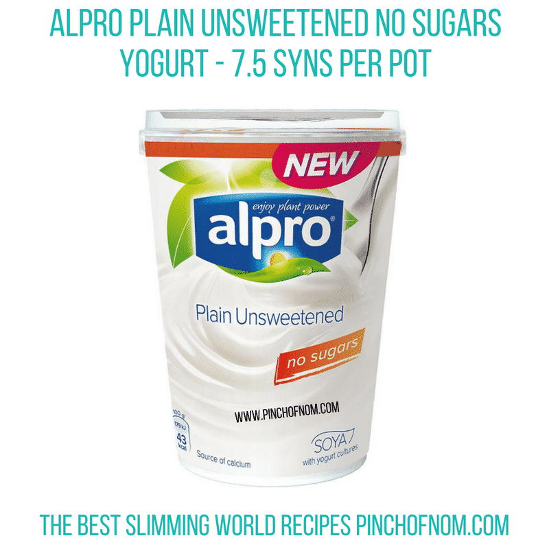 Alpro plain no sugars - Pinch of Nom Slimming World Shopping Essentials