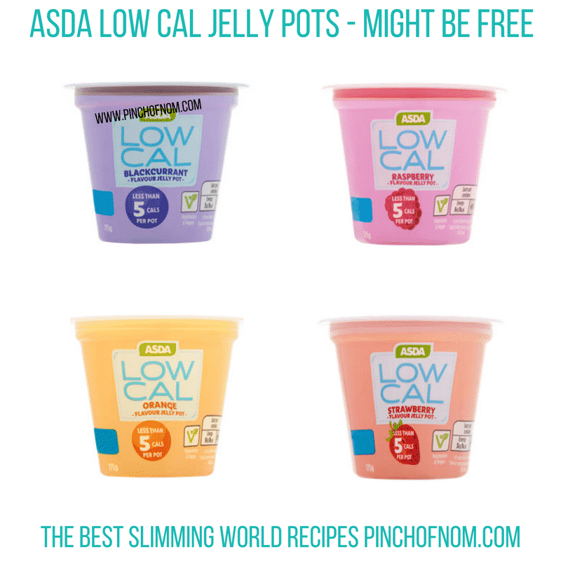 Asda Low Cal jelly pots - Pinch of Nom Slimming World Shopping Essentials