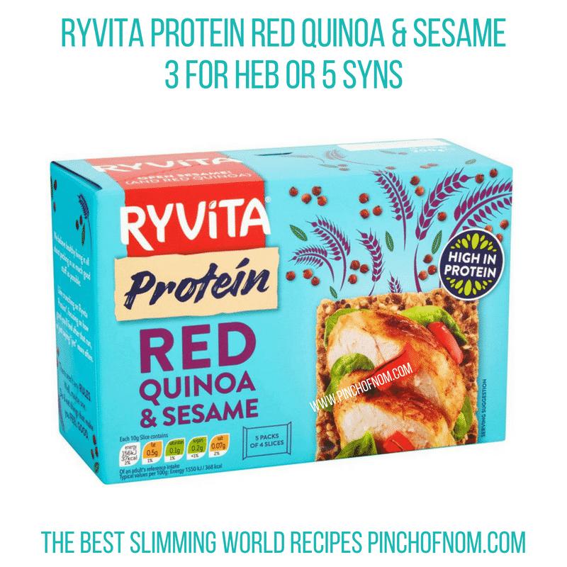 Ryvita protein red quinoa - Pinch of Nom Slimming World Shopping Essentials