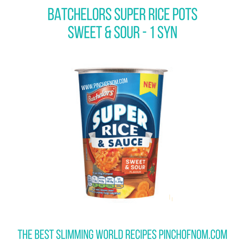 Batchelors Rice Pots Sweet & Sour Pinch of Nom Slimming World Shopping Essentials