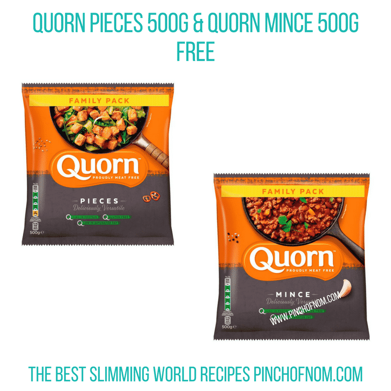 Quorn offer - Pinch of Nom Slimming World Shopping Essentials
