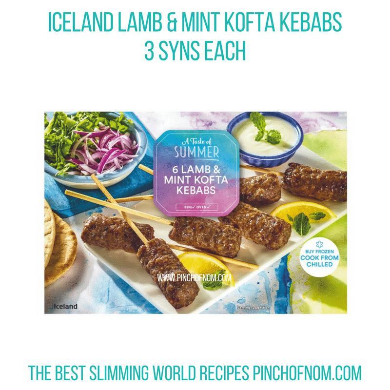 Iceland Lamb & Mint Koftas - Pinch of Nom Slimming World Shopping Essentials