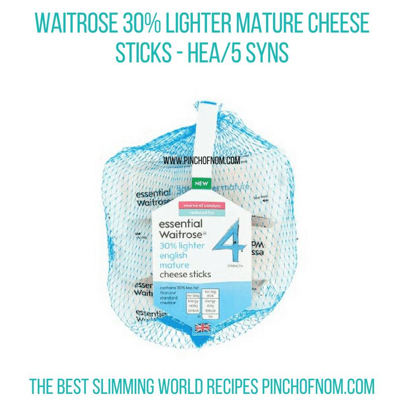 Waitrose cheese sticks - Pinch of Nom Slimming World Shopping Essentials