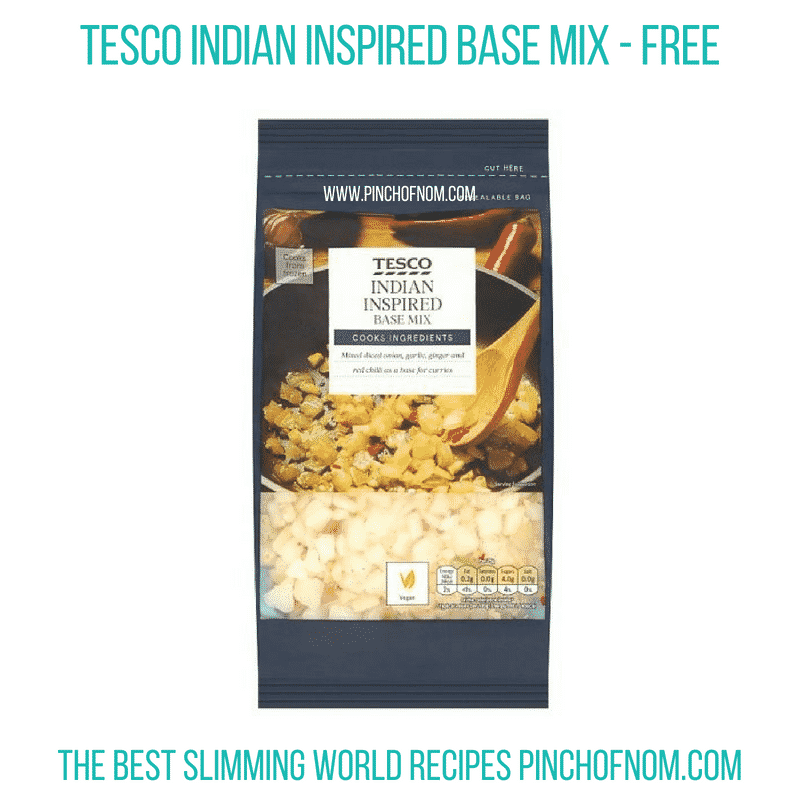 Tesco Indian base mix - Pinch of Nom Slimming World Shopping Essentials