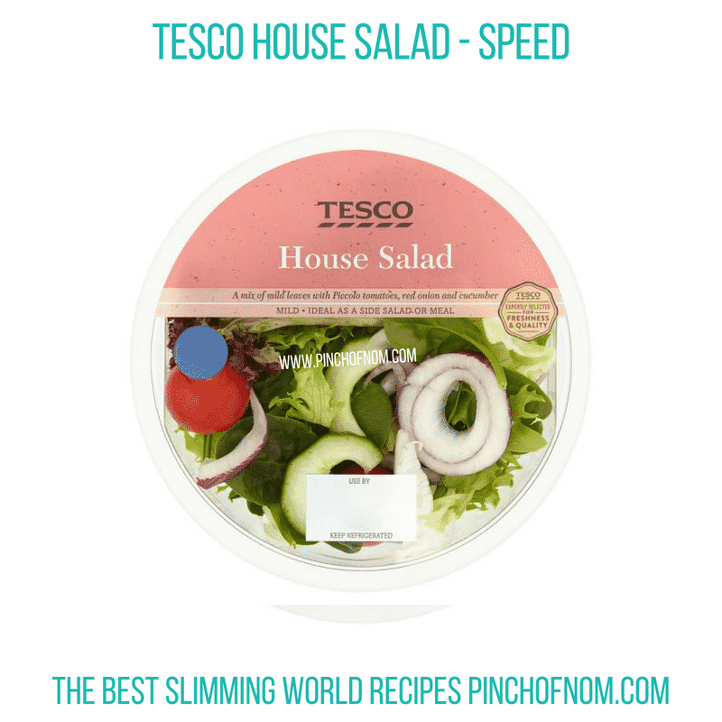 Tesco House Salad - Pinch of Nom Slimming World Shopping Essentials