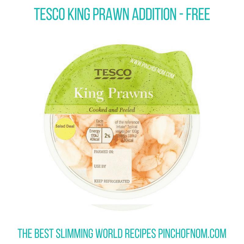 Tesco King Prawn addition - Pinch of Nom Slimming World Shopping Essentials