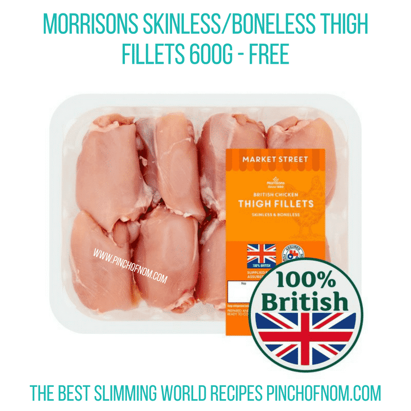 Morrisons Skinless Boneless chicken thighs - Pinch of Nom Slimming World Shopping Essentials