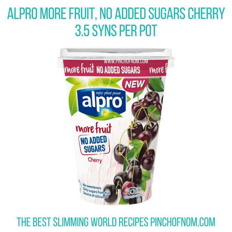 Alpro More Fruit Cherry - Pinch of Nom Slimming World Shopping Essentials