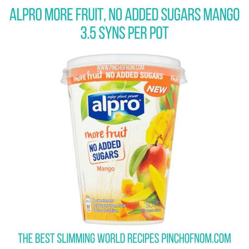 Alpro More Fruit MAngo - Pinch of Nom Slimming World Shopping Essentials