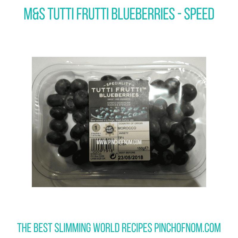 M&S Tutti Frutti Blueberries - Pinch of Nom Slimming World Shopping Essentials