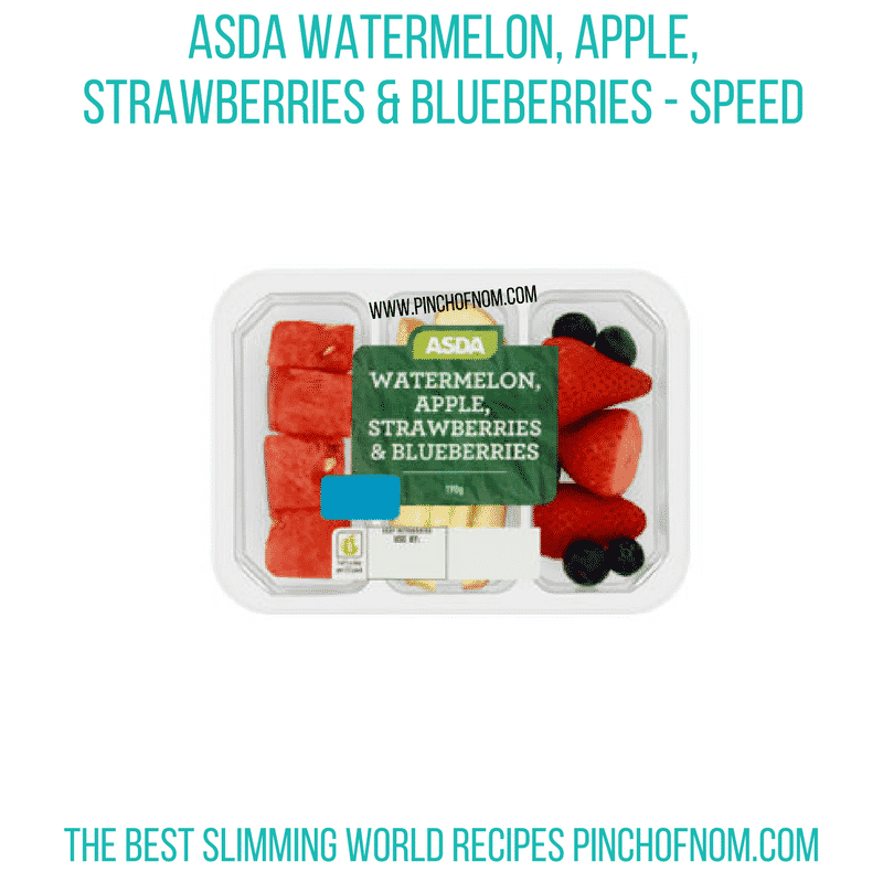 Asda watermelon, apple, strawberries and blueberries - Pinch of Nom Slimming World Shopping Essentials