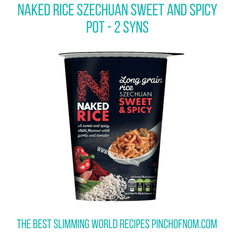 Naked rice Szechuan pot - Pinch of Nom Slimming World Shopping Essentials