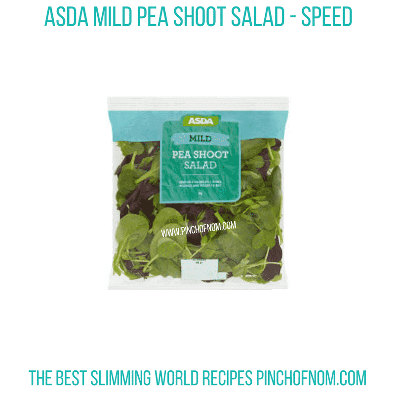 Asda Pea shoot salad - Pinch of Nom Slimming World Shopping Essentials