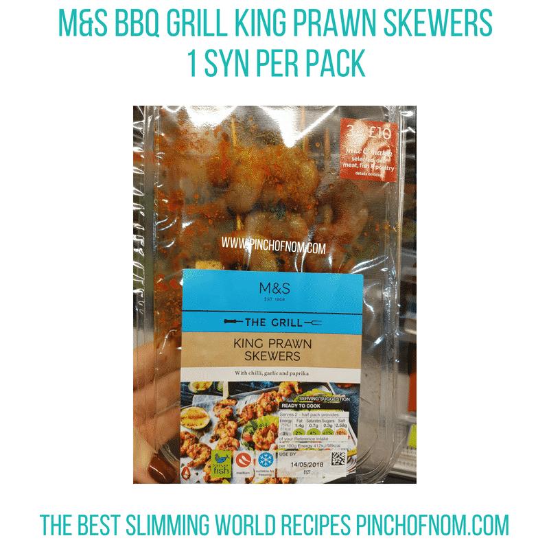 M&S King Prawn Skewers - Pinch of Nom Slimming World Shopping Essentials