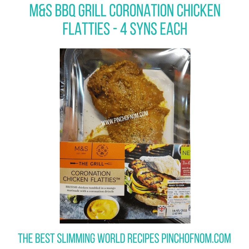 M&S Coronation chicken flatties - Pinch of Nom Slimming World Shopping Essentials