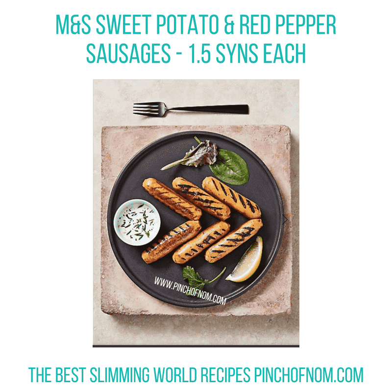 M&S Sweet potato red pepper sausage - Pinch of Nom Slimming World Shopping Essentials