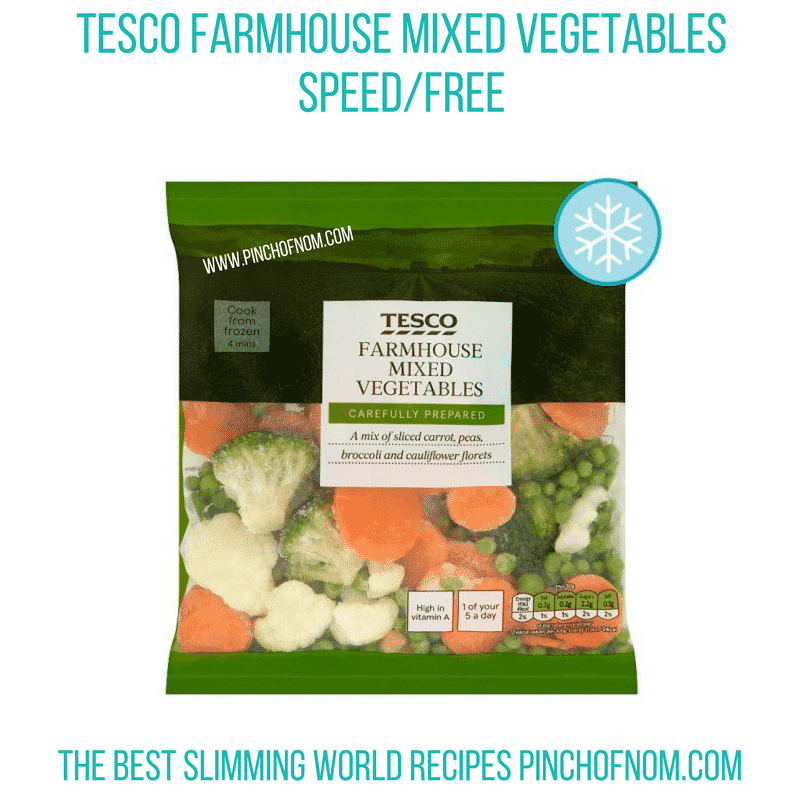 Tesco Farmhouse mixed veg - Pinch of Nom Slimming World Shopping Essentials