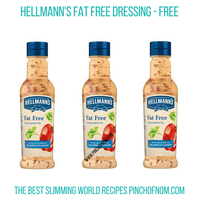 Hellman's Fat free dressing - Pinch of Nom Slimming World Shopping Essentials