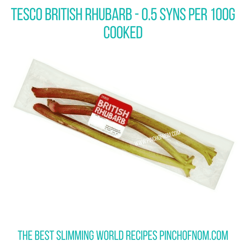 Tesco Rhubarb - Pinch of Nom Slimming World Shopping Essentials