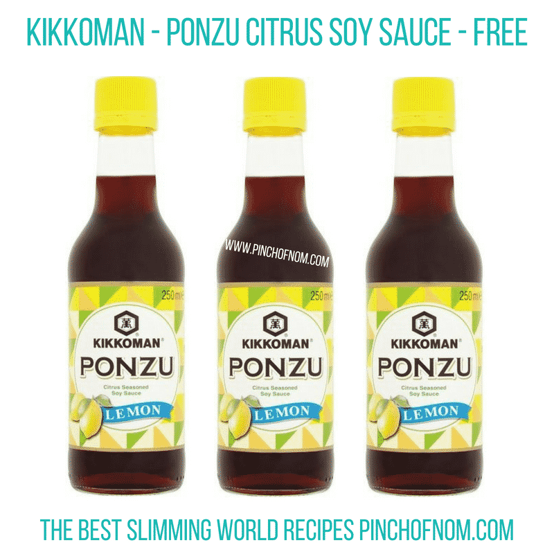 Kikkoman Ponzu citrus soy sauce - Pinch of Nom Slimming World Shopping Essentials