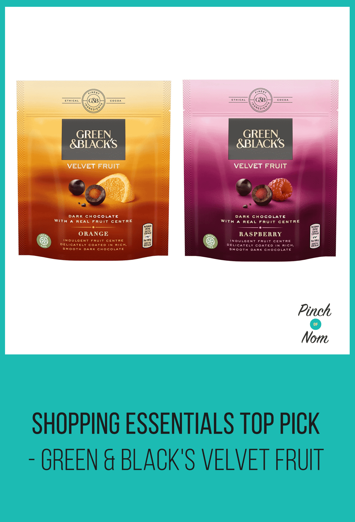 Shopping Essentials Top Pick – Green & Black's Velvet Fruit | Slimming World