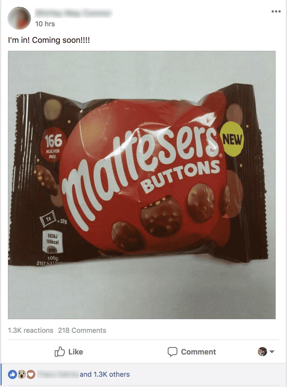 Maltesers buttons FBSS1