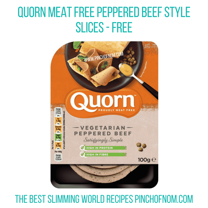Quorn peppered beef slices - Pinch of Nom Slimming World Shopping Essentials