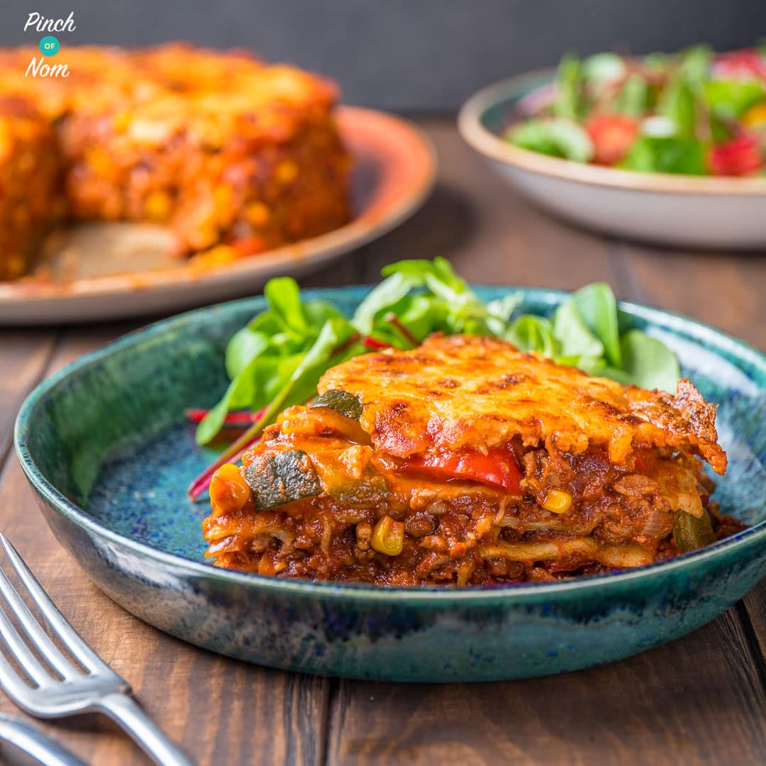 Enchilada Lasagne | Slimming World & Weight Watchers