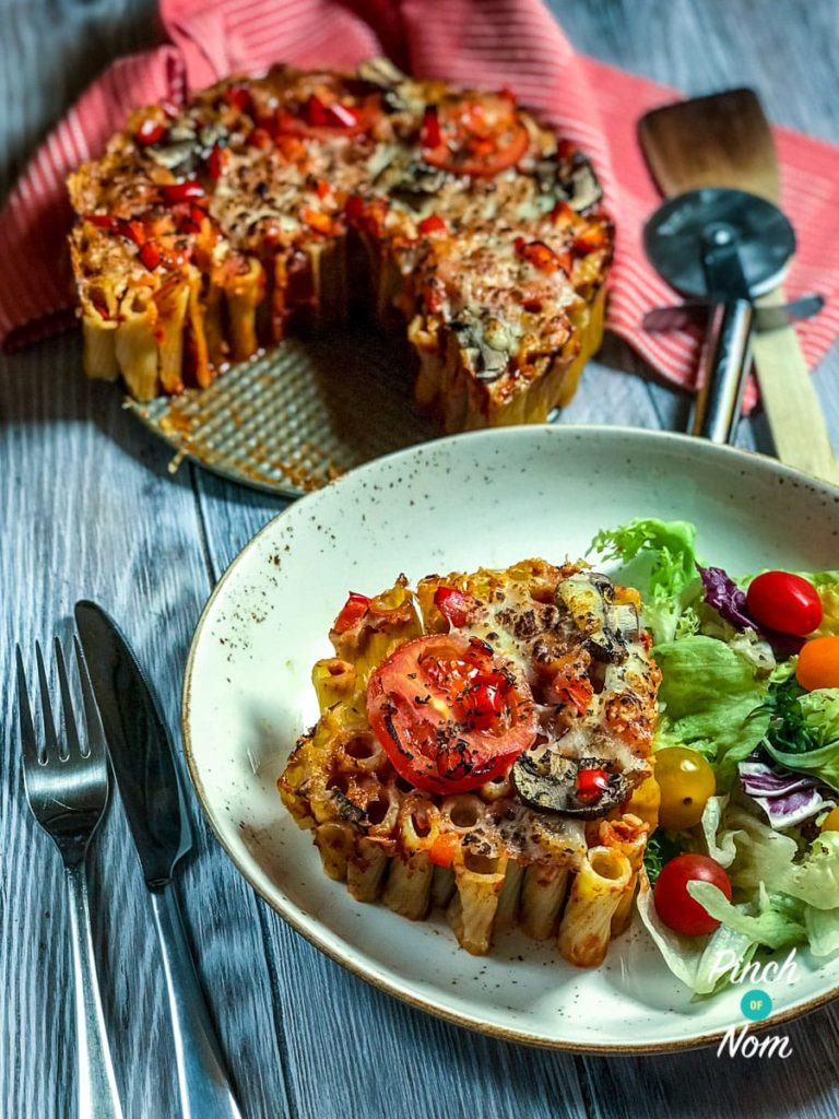 Rigatoni Pizza Pie | Slimming World & Weight Watchers Friendly