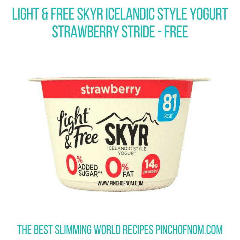 Light & Free Skyr Strawberry - Pinch of Nom Slimming World Shopping Essentials