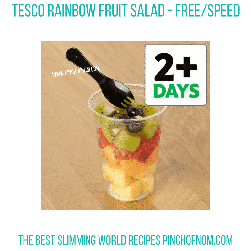 Tesco rainbow fruit salad - Pinch of Nom Slimming World Shopping Essentials