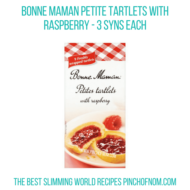 Bonne Maman tartlets raspberry - Pinch of Nom Slimming World Shopping Essentials
