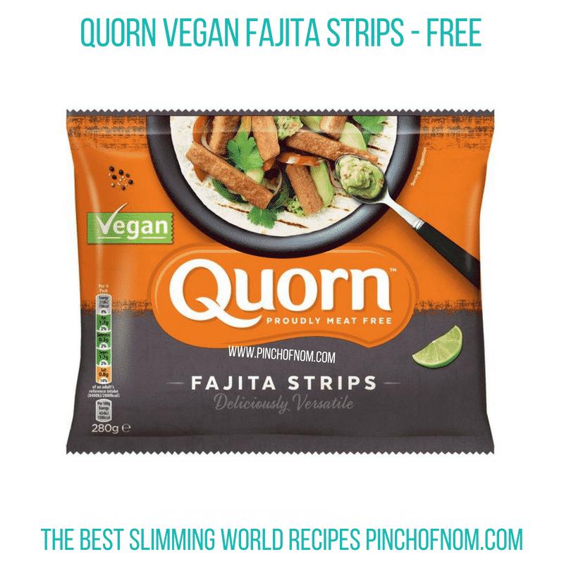 Quorn Vegan Fajita Strips - Pinch of Nom Slimming World Shopping Essentials