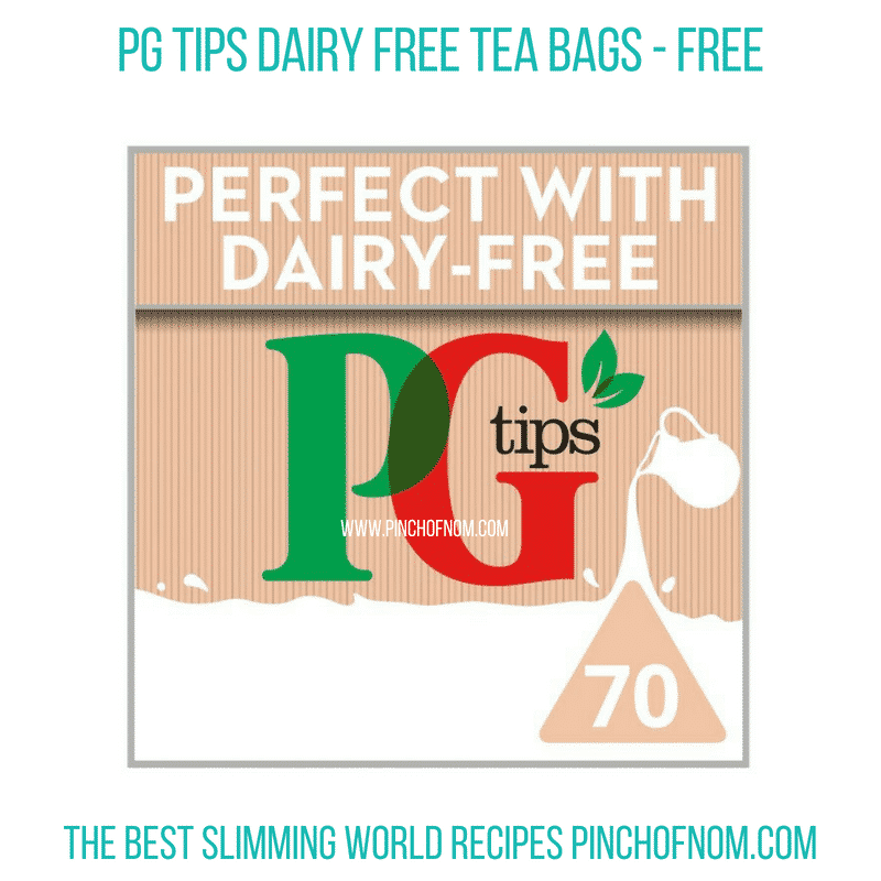 PG Tips dairy free tea bags - Pinch of Nom Slimming World Shopping Essentials