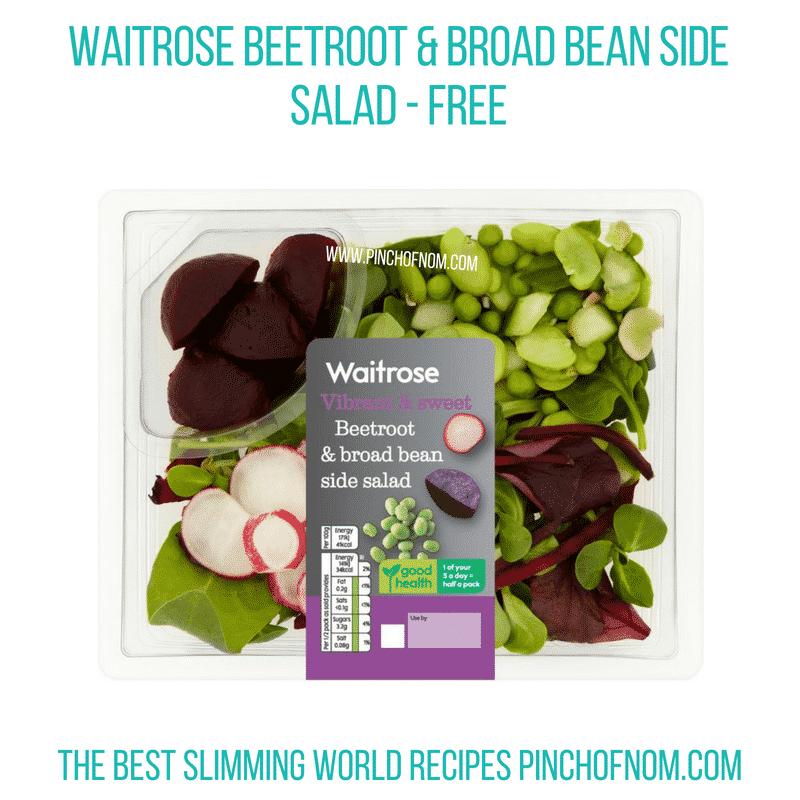 Waitrose Beetroot & Broad Bean salad - Pinch of Nom Slimming World Shopping Essentials