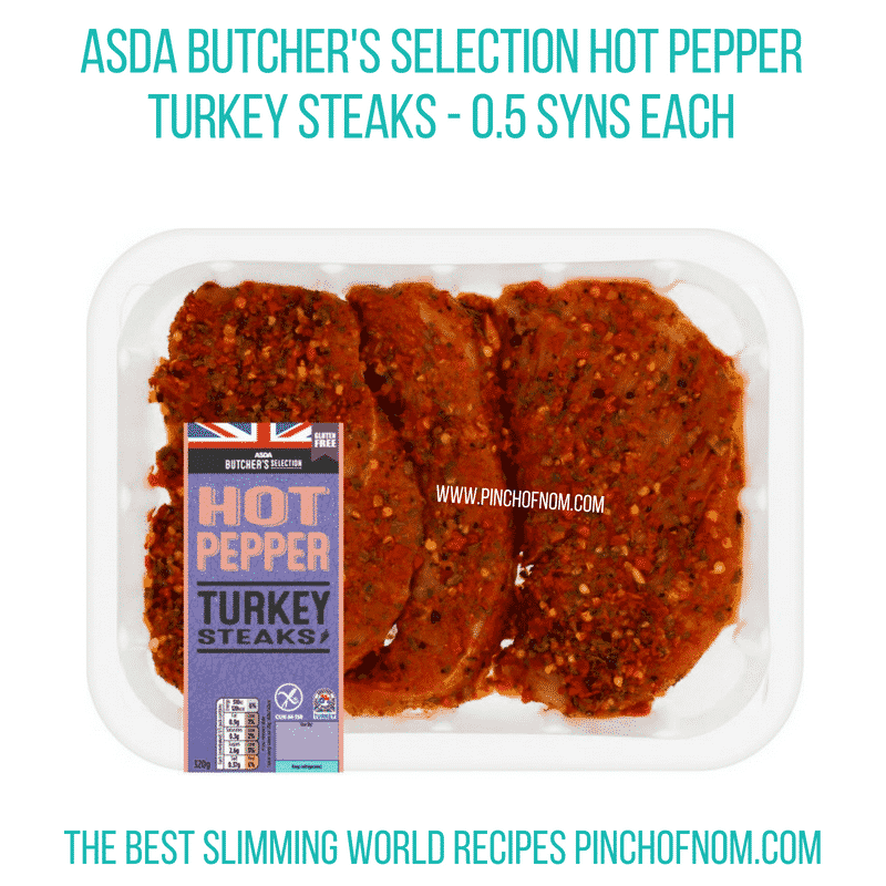 Asda Hot Pepper Turkey steaks - Pinch of Nom Slimming World Shopping Essentials