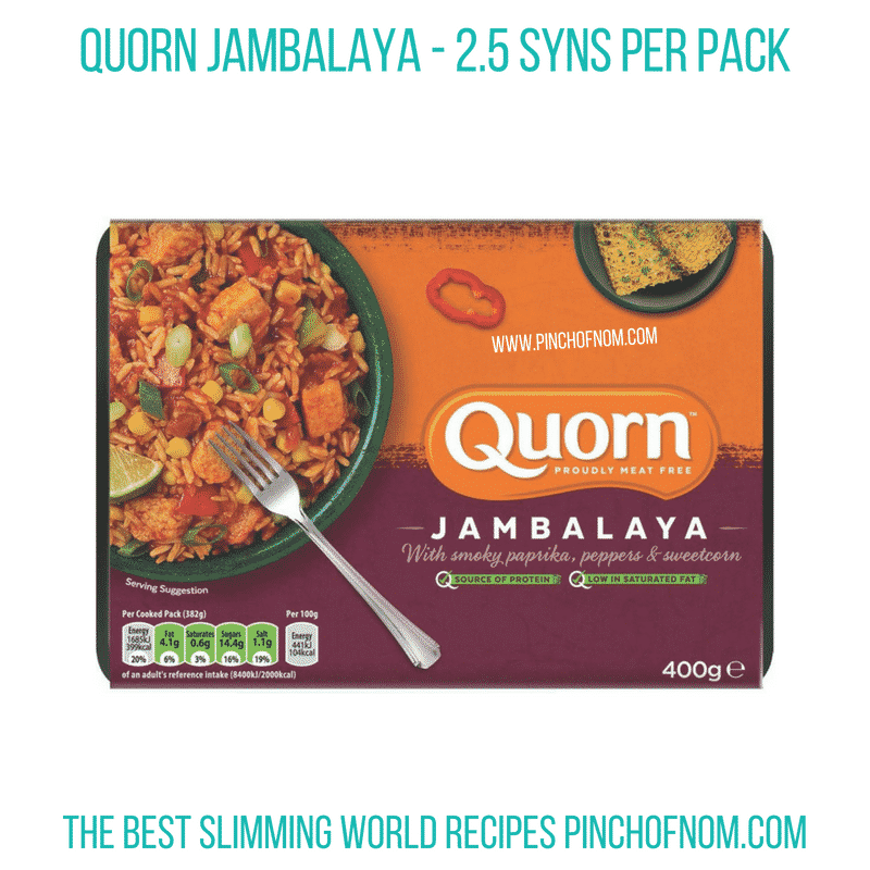 Quorn Jambalaya - Pinch of Nom Slimming World Shopping Essentials