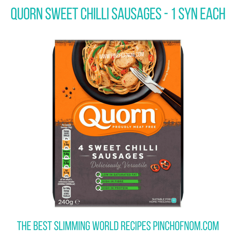 Quorn Sweet Chilli Sausages - Pinch of Nom Slimming World Shopping Essentials