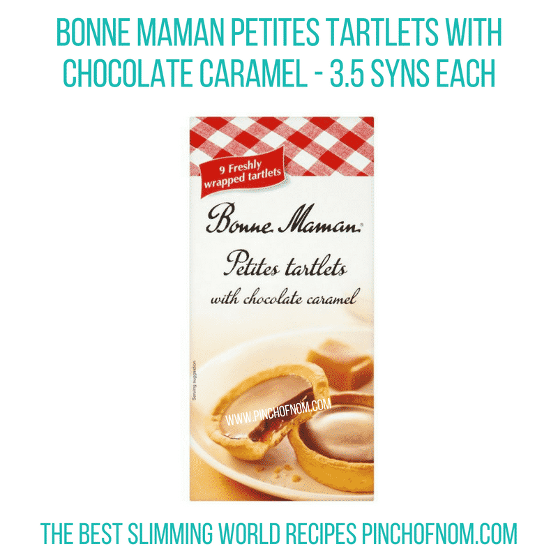 Bonne Maman Choc caramel tartlet - Pinch of Nom Slimming World Shopping Essentials