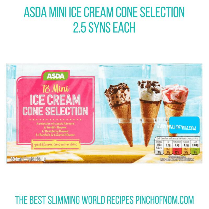 Asda mini ice cream cones - Pinch of Nom Slimming World Shopping Essentials