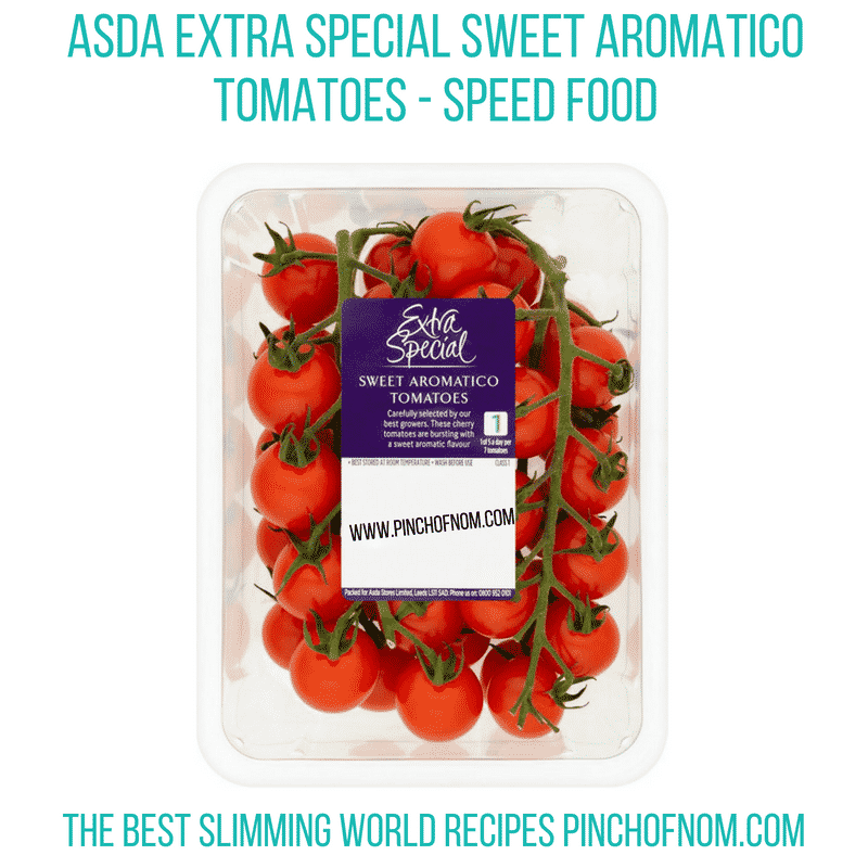 Asda sweet aromatic tomatoes - Pinch of Nom Slimming World Shopping Essentials