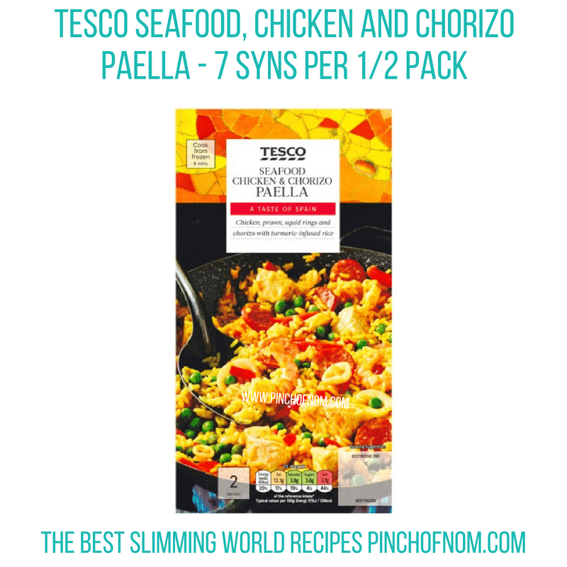 Tesco seafood paella - Pinch of Nom Slimming World Shopping Essentials