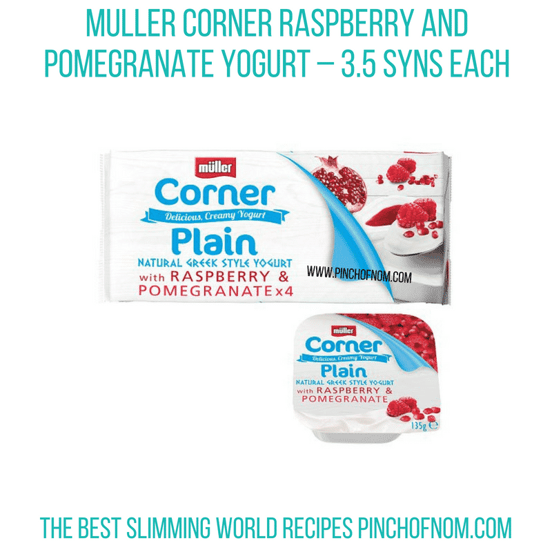 Muller plain raspberry pomegranate - Pinch of Nom Slimming World Shopping Essentials